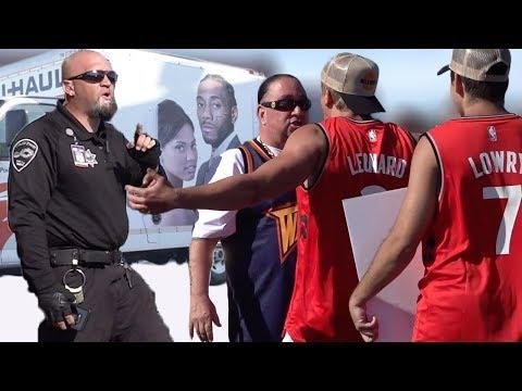 BEEFING Warriors Fans In Oakland! (FIGHT)