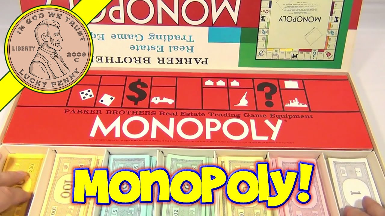 Monopoly vintage board game 1961 parker brothers classic real estate trading game youtube