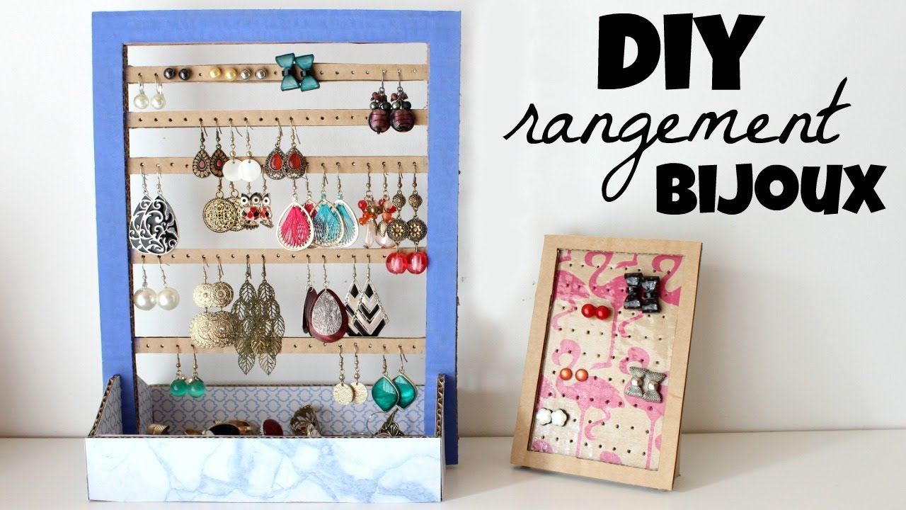 diy rangement boucles d 39 oreilles youtube. Black Bedroom Furniture Sets. Home Design Ideas