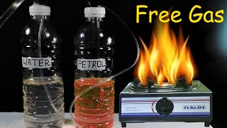 Free gas from the Water | How to make Free Lpg gas at home | petrol and Water |