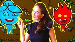 ПРИКЛЮЧЕНИЯ ОГОНЬ и ВОДА в лесном храме #2 Игровой мультик про храм леса Видео для детей Мультик