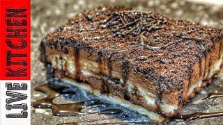 Εύκολο γλυκό στο λεπτό με 4 Υλικά (Εύκολες συνταγές) Oreo Cake Recipe - Live Kitchen