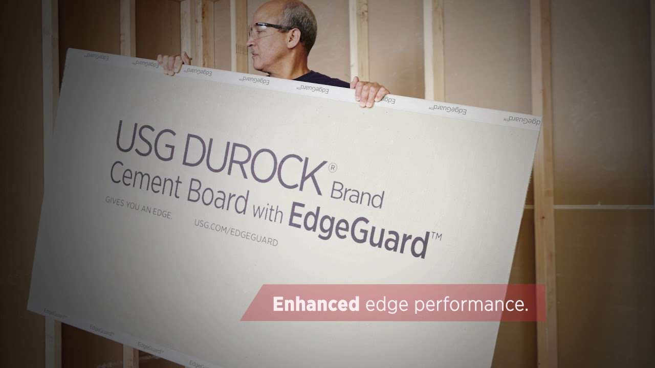 introducing usg durock brand cement board with edgeguard