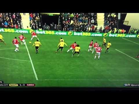 Troy Deeney (OG) Goal Watford Vs Manchester United 1-2