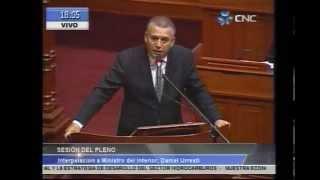 Ministro Urresti pide presencia de congresistas en interpelacion