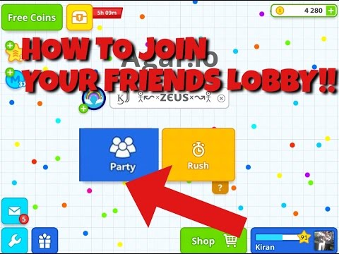 Download AGAR.IO// HOW TO JOIN YOUR FRIENDS SERVER!! HACK ?? GLITCH? PARTY MODE?!