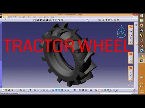 Catia V5 - Wheel tractor