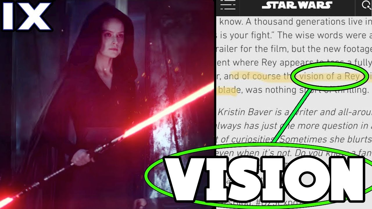 Star Wars Website Accidentally Reveals Dark Side Rey Is A Vision Then Changes It Oopsie Or Not Youtube