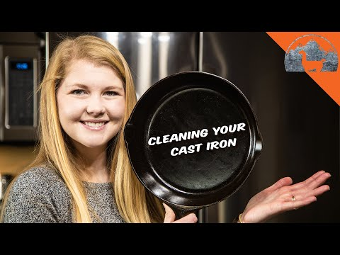 How to Clean a CAST IRON SKILLET - Ep.77 - Llama Life