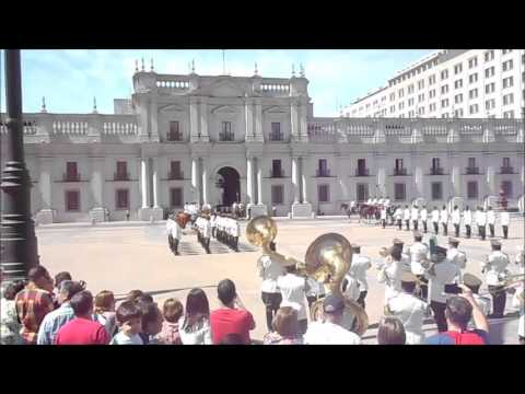 The Changing Of The Guards In Santiago, Chile