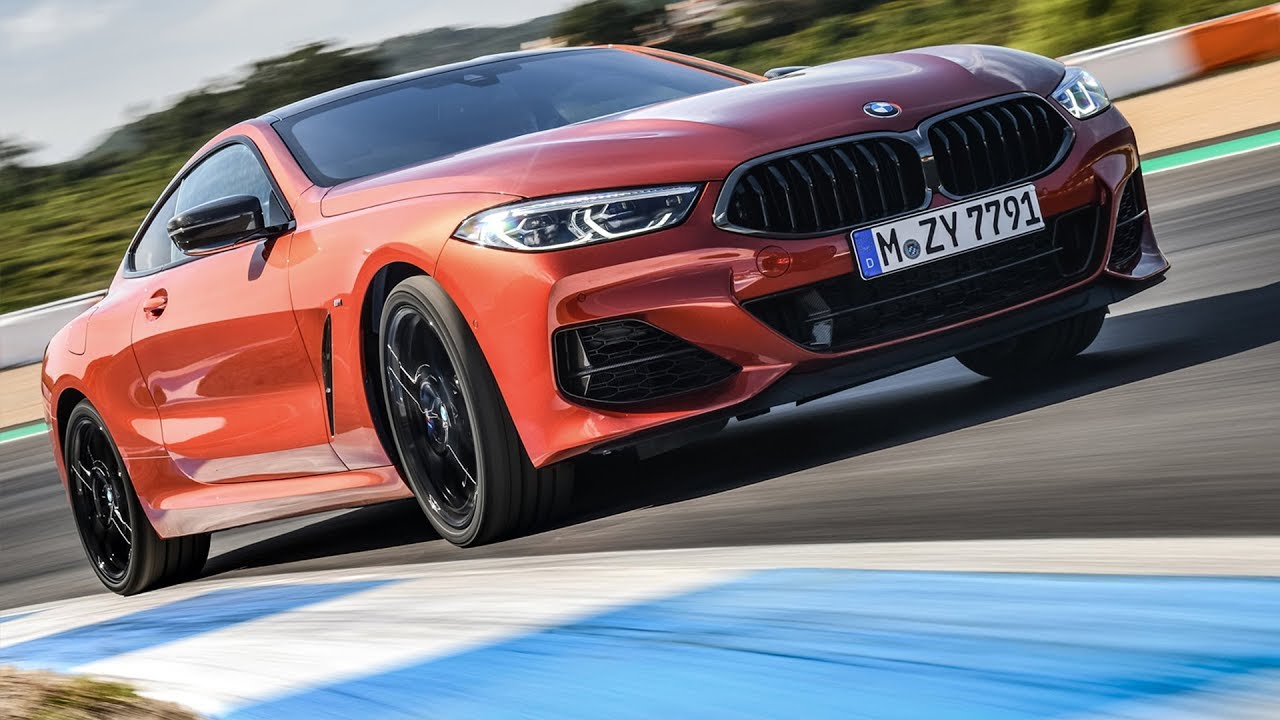2019 Bmw M850i Xdrive Coupe Sunset Orange Metallic Road And Track Driving Interior And Exterior