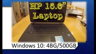 HP 15.6 Laptop Notebook 4GB - 500GB Windows 10 HD Display Intel