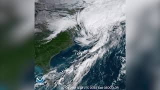 Remnants of Hurricane Michael Over the Carolinas - Space View