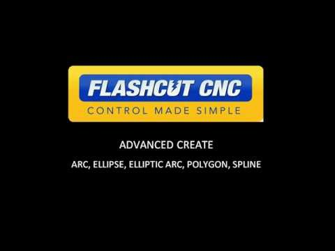 FlashCut CADCAM - Splines, Arcs And Ellipses