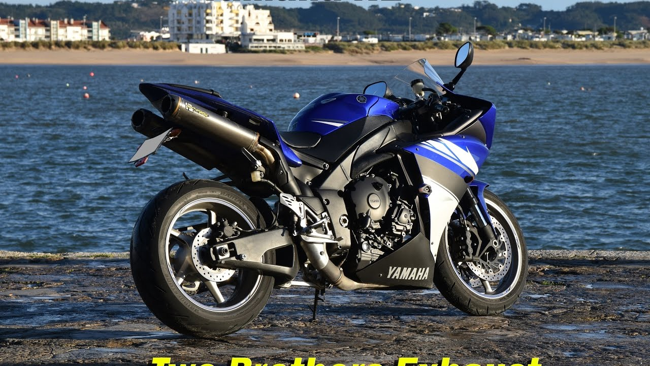 yamaha r1 crossplane with two brothers exhaust and hm quickshifter youtube. Black Bedroom Furniture Sets. Home Design Ideas