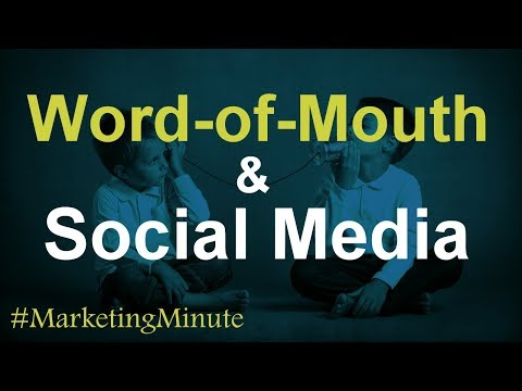 Marketing Minute 113: How Social Media Re-Energized Word-of-Mouth Marketing