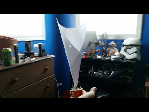 Homemade microphone made from paper