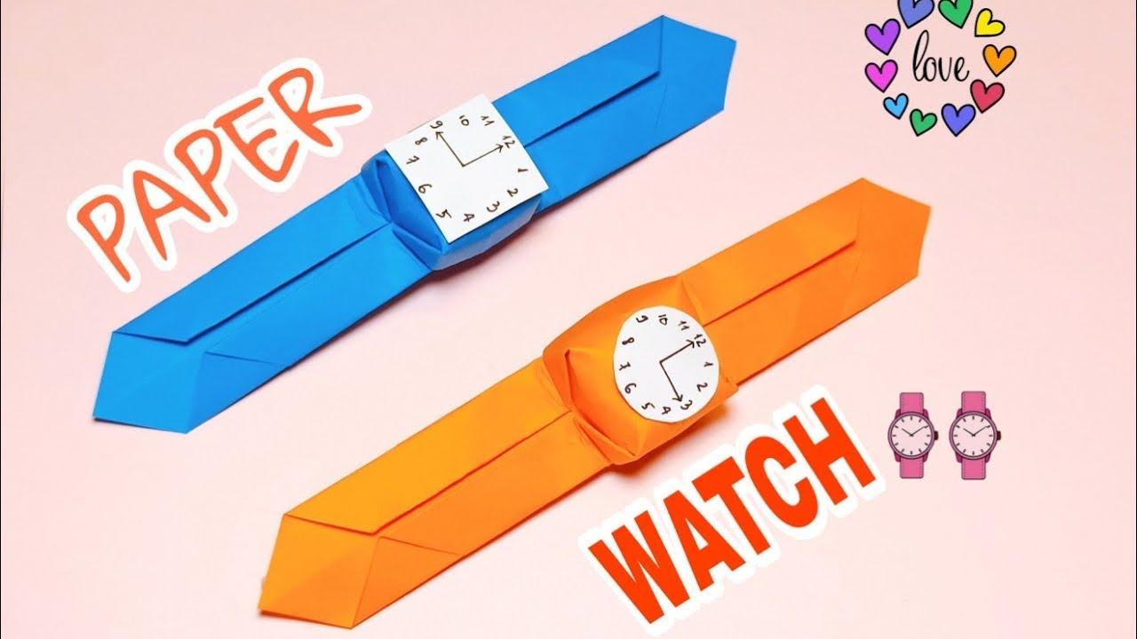 How To Make Paper Wrist - Origami Watch - Paper Wrist Watch