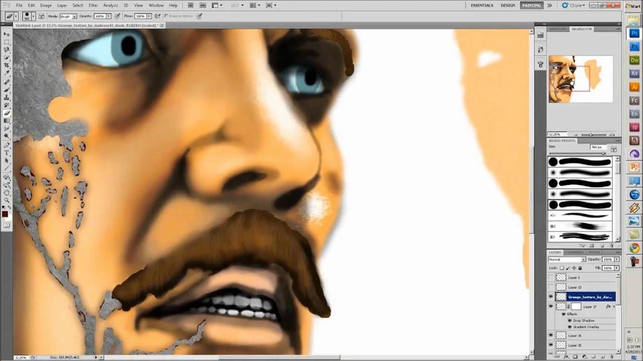 the victim digital painting ryan honeywmv youtube