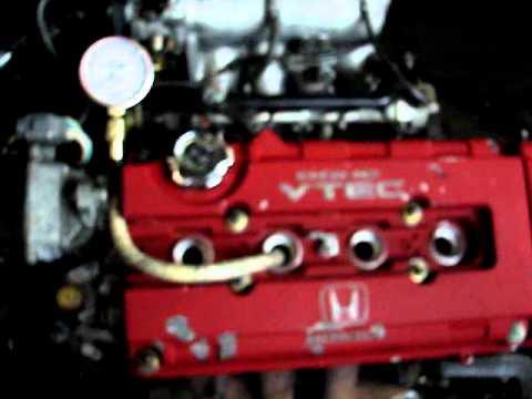 www.JapanMotorImport.com- JDM B16B DOHC VTEC Motor Compression Test Video