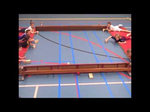 Nieuw Airhockey gymles groep 6 empel - YouTube JK-34