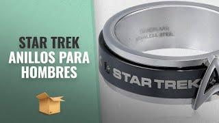 Productos 2018, Los 10 Mejores Star Trek: Star Trek Stainless Steel White Cubic Zirconia Spinner