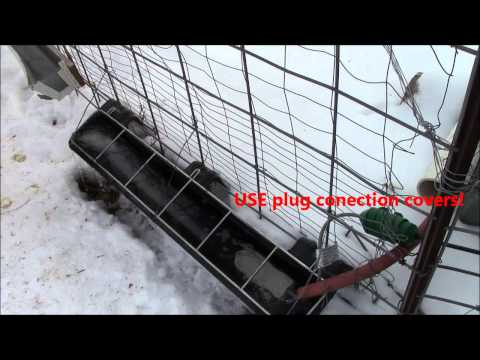 Automatic Winter Chicken Livestock Watering, Waterer, Water, Feeder Trough System