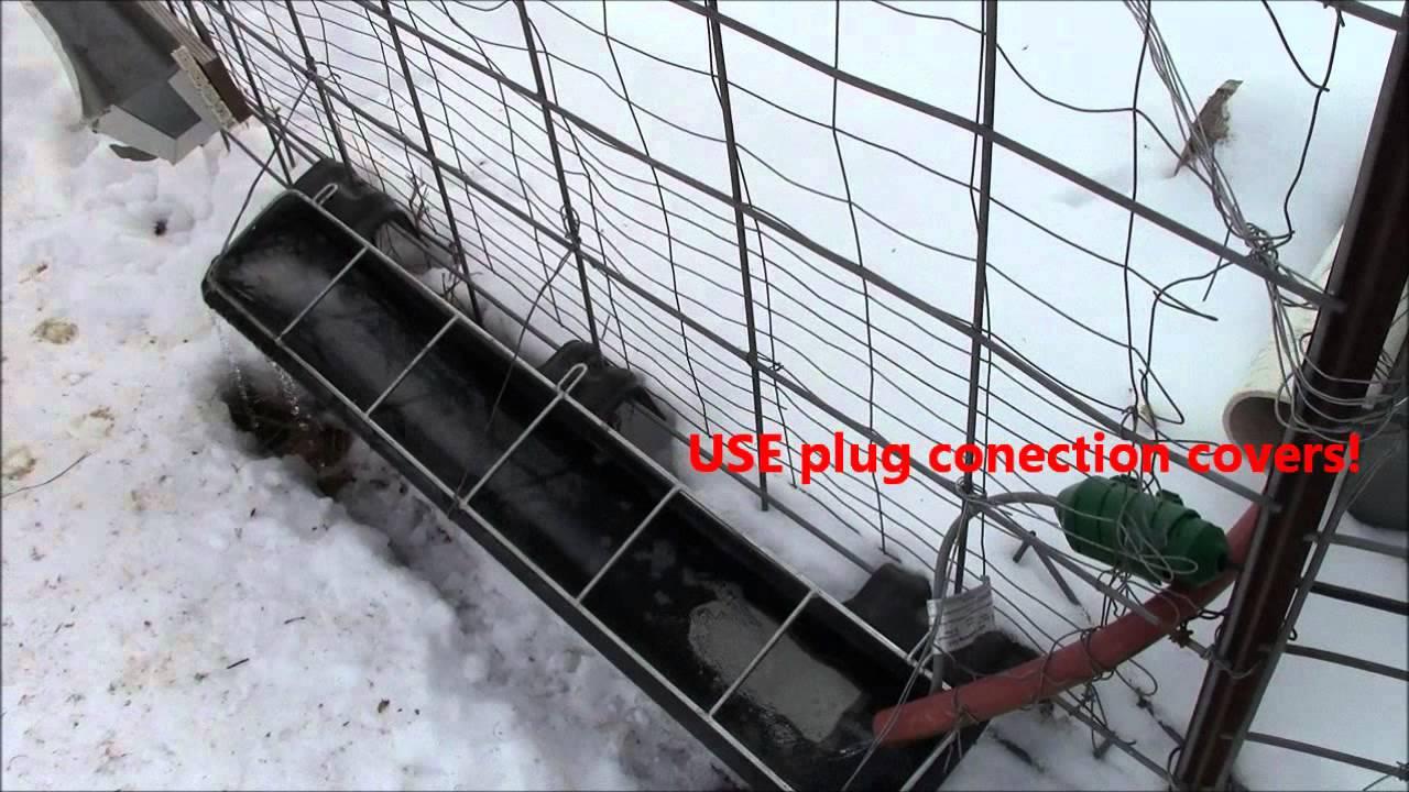 Automatic Winter Chicken Livestock Watering Waterer
