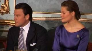 Kronprinsessan Victoria & Daniel i förlovningssoffan