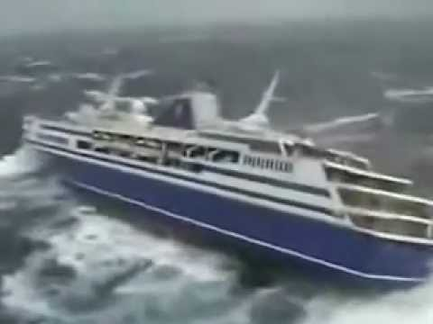 Cruise Almost Tips Over In Storm  YouTube