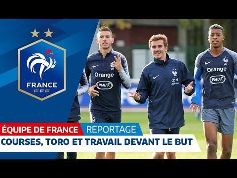 Courses, toro et frappes devant le but, Equipe de France I FFF 2018