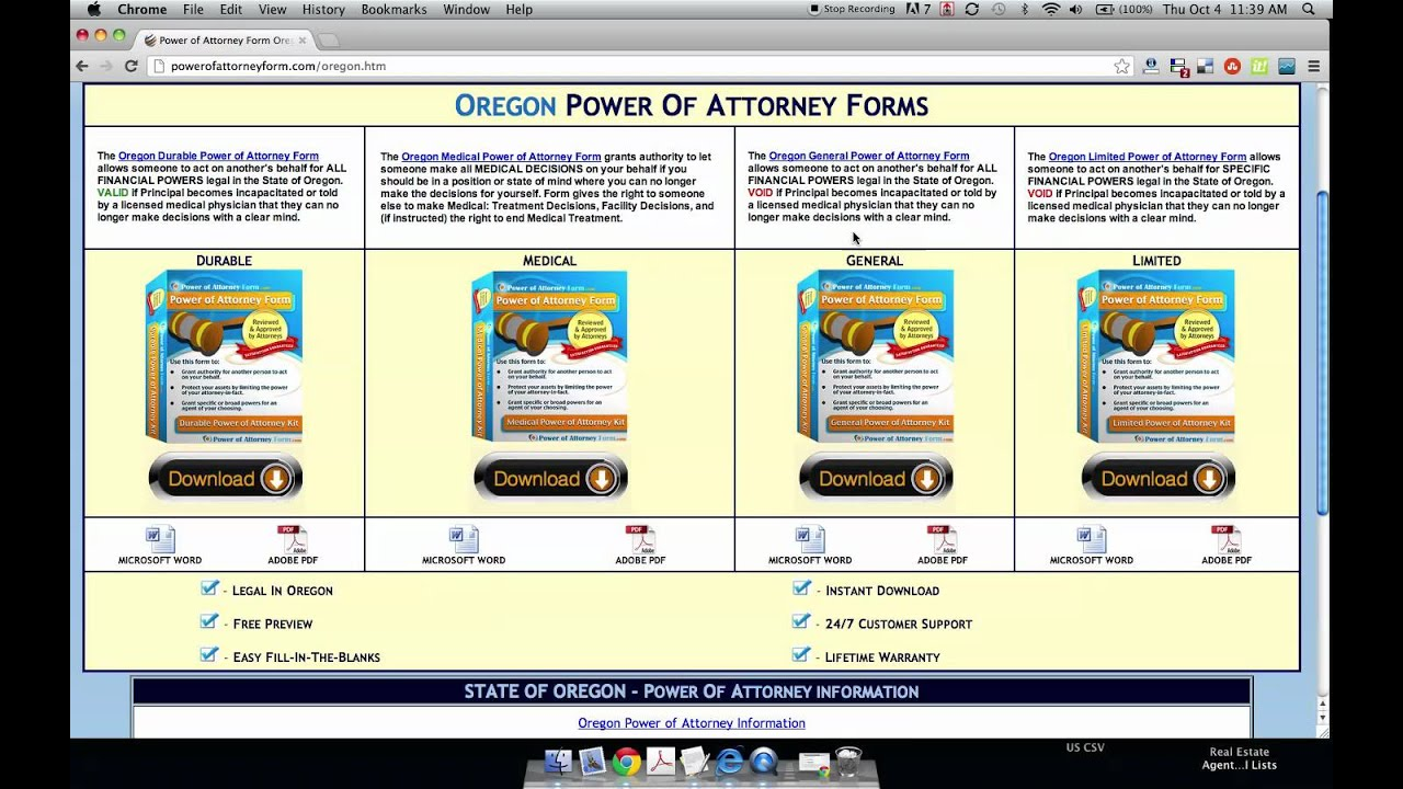 Power Of Attorney Form Oregon Youtube