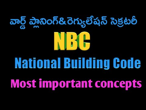 National Building Code For Ward Planning And Regulation Secretary Important Concept