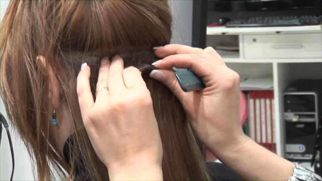 Colocar extensiones clip pelo corto