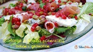Sałatka z szynką parmeńską, serem i granatem - TalerzPokus.tv