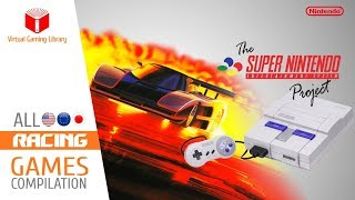 All SNES/Super Nintendo Racing Games Compilation - Every Game (US/EU/JP)