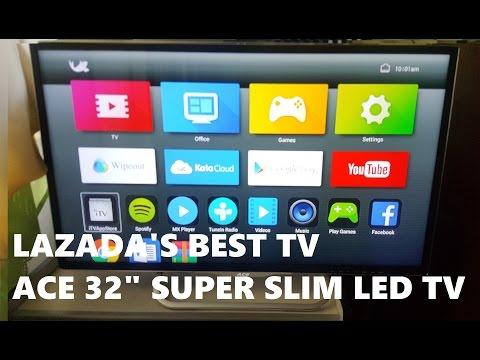 """LAZADA UNBOX! ACE 32"""" Super Slim LED TV HD-808"""