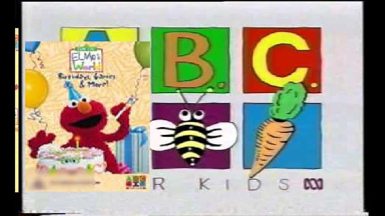 Opening To Sesame Street Elmo S World Birthdays Games And