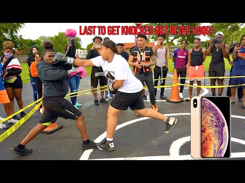 Last Female To Get Knocked Out In The Hood Wins IPHONE MAX PRO!