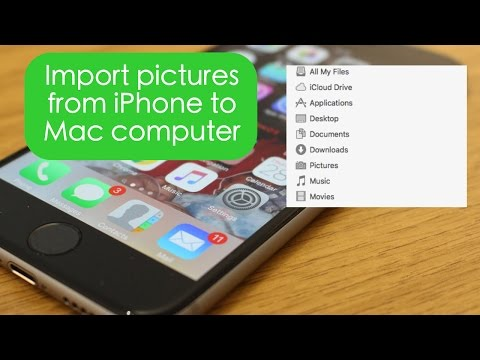 How to get pictures off iphone onto macbook