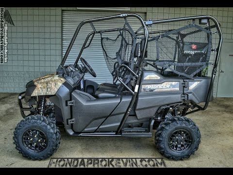 2017 honda pioneer 700 4 deluxe walk around video phantom camo review. Black Bedroom Furniture Sets. Home Design Ideas