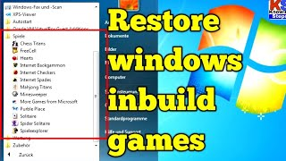 How To Restore Or Active Windows Games Hearts Solitaire Etc । Windows Pocker Heart Games
