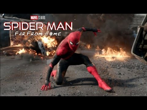 Spider Man Far From Home   fight Mysterio Final Battle  (HD)