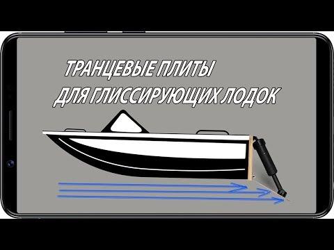 Транцевые плиты для глиссирующих лодок и катеров