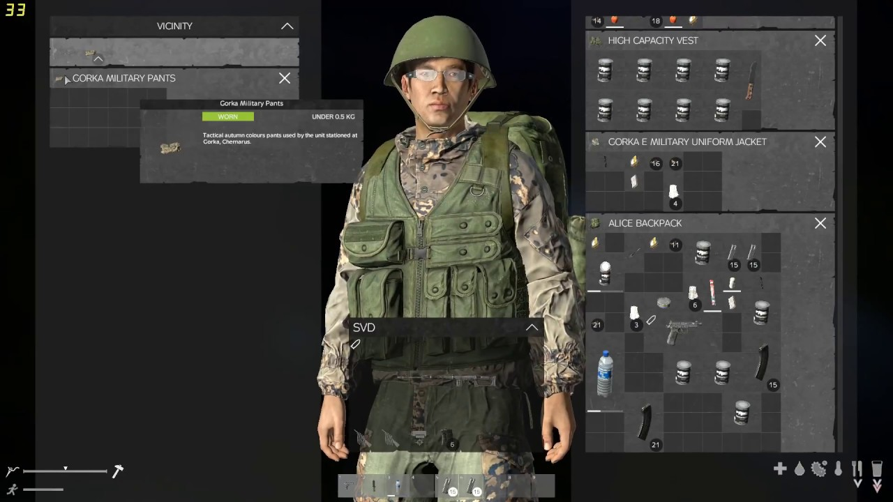 Alice Backpack Dayz dayz .63 experimental helicopter crash and svd ,,wasted user and reaper2980  shout out