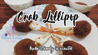 Crab lollipop Recipe | Crab balls | Crab bites | Nandu Kola Urundai | Crab starter