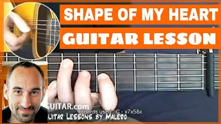 Shape Of My Heart Guitar Lesson - part 1 of 6
