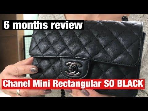 Chanel mini so black - 6 months review - wear & tear