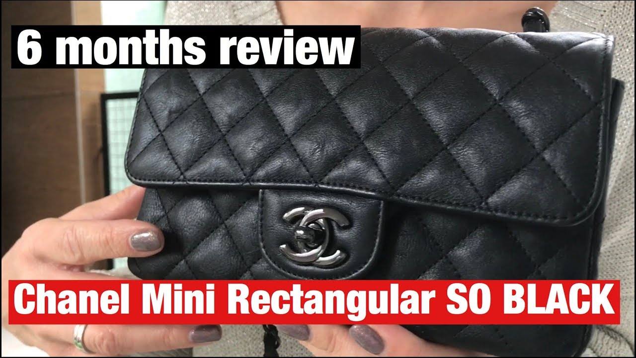 9a4cab7ee02211 CHANEL MINI FLAP SO BLACK - 6 MONTHS REVIEW - WEAR & TEAR - YouTube