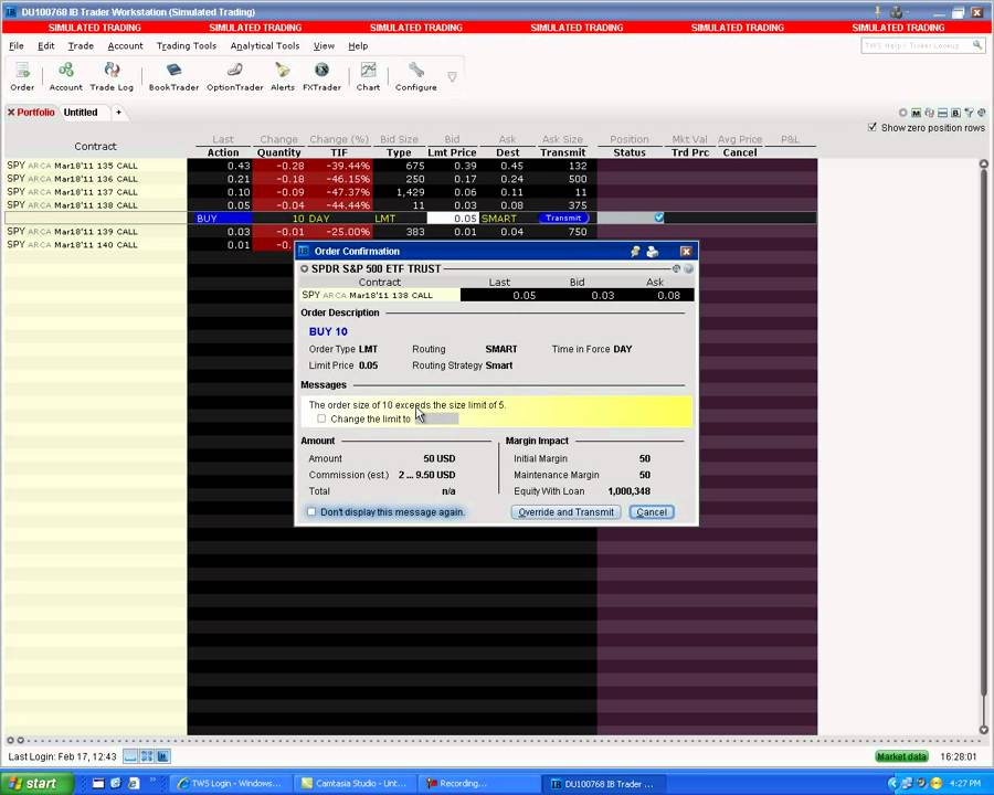 Interactive brokers option trading review